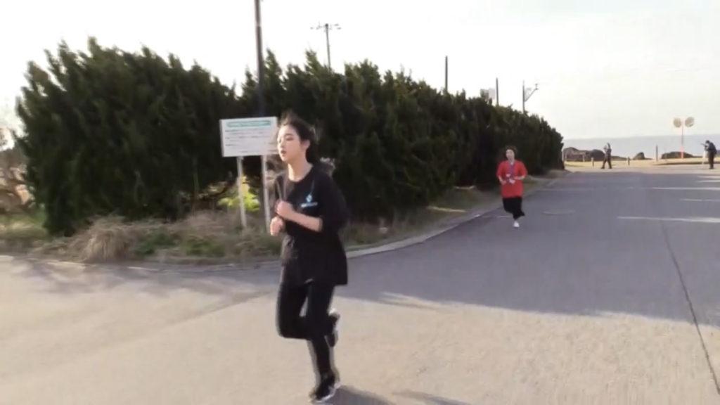 早朝マラソン折り返し