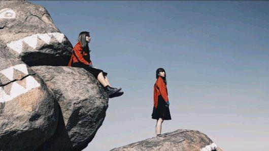 リンリン 岩の上